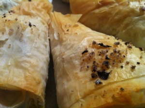 Flaky dough, warm filling, crunchy nuggets of sea salt