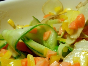 Crunchy Veg, Sweet and Tangy Dressing