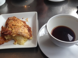 My Coffee and Almond Croissant